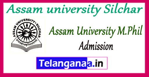 Assam university Silchar Admission Prospectus 2019 Application