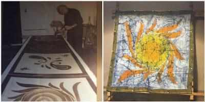 ζωγραφική με κερί σε μετάξι