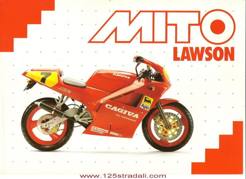 Racing Caf U00e8  Vintage Brochures  Cagiva Mito Lawson 1991  Italy