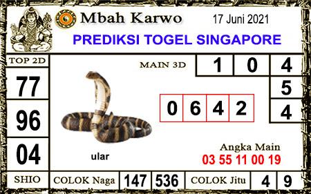 Prediksi Jitu Mbah Karwo SGP kamis 17-06-2021