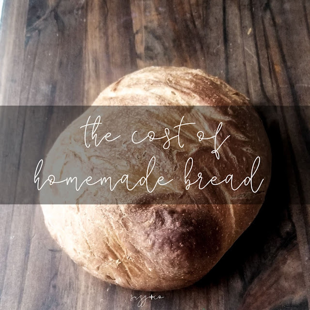 the cost of homemade bread