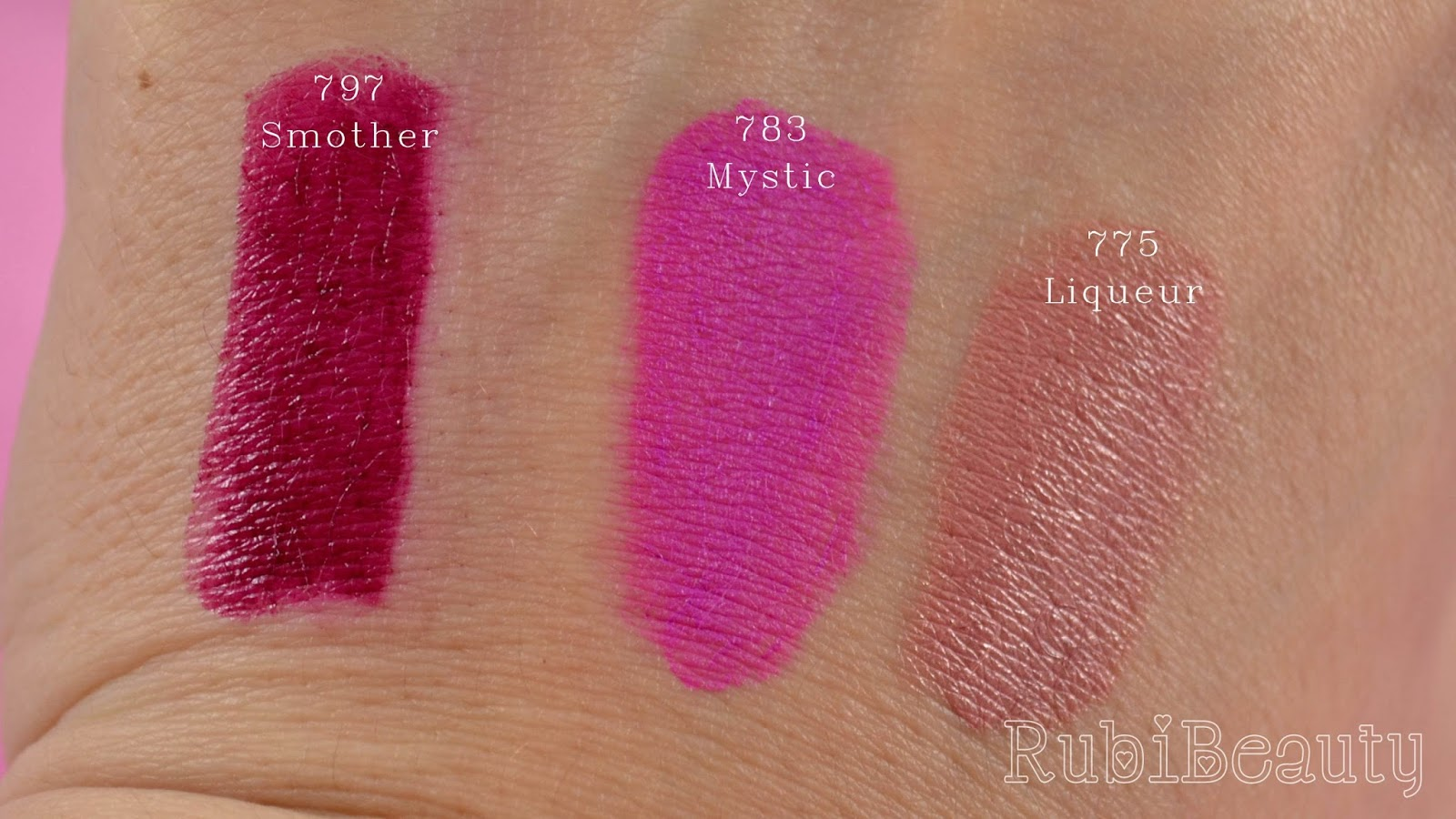 rubibeauty labiales sleek swatches clon mac smother mystic Liqueur