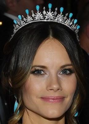 palmette tiara princess sofia sweden diamond turquoise