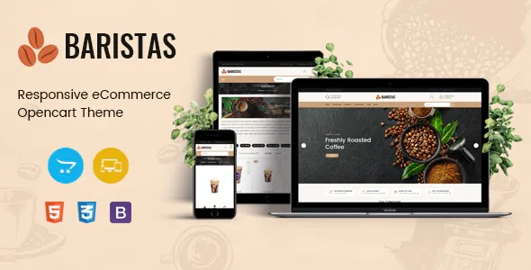 Best Coffee Shop Responsive OpenCart Theme
