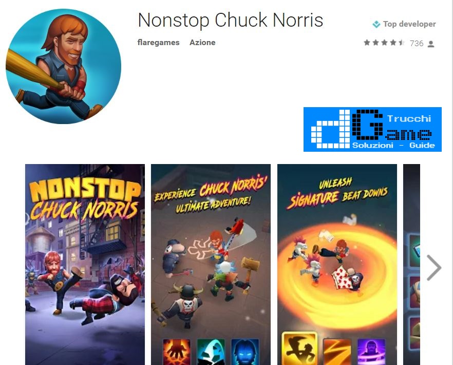 Trucchi Nonstop Chuck Norris Mod Apk Android v1.2.3