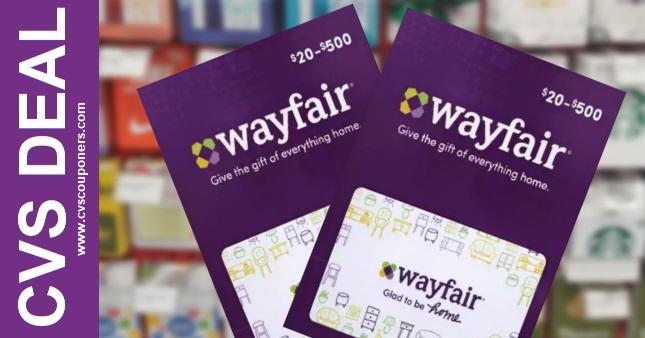 FREE $10 off Wayfair Gift Card Offer at CVS 5/23-5/29