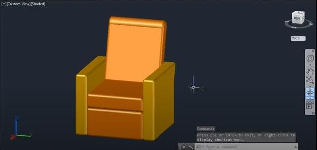 رسم المنتج الخشبي بواسطة برنامج الأوتوكاد