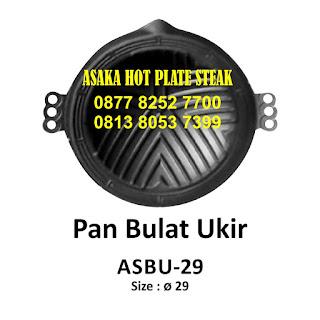 Hot plate ASBU - 29 ,  SBU - 29 ( Pan bulat ukir) , hot plate bulat ukir, hot plate murah, hot plate bentuk bulat, grosir hot plate, aneka hot plate kuliner