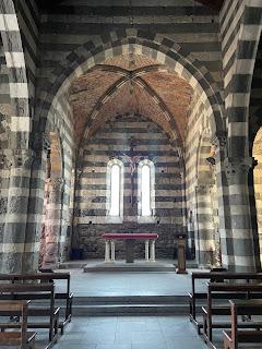 The inside of the Church of San Pietro in Porto Venere