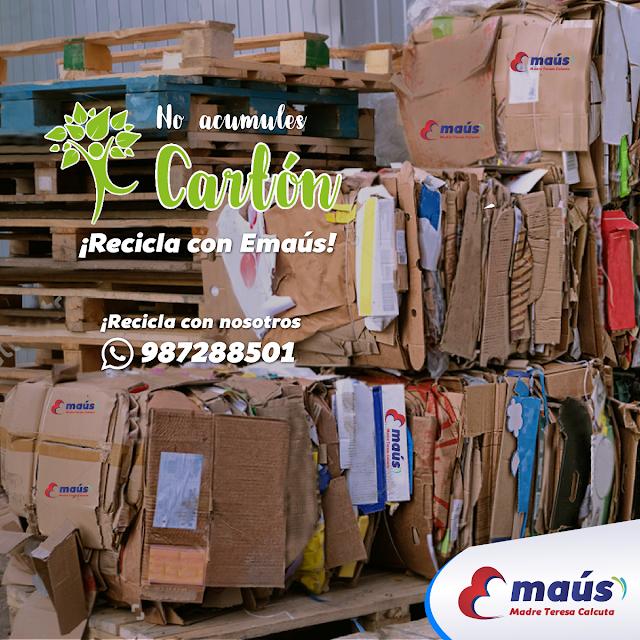 No acumules Cartón, Recicla en Lima