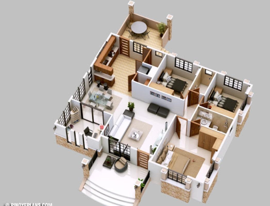 15 Desain Rumah Lengkap Dengan Ukuran Ukuranya Minimalis Elegan