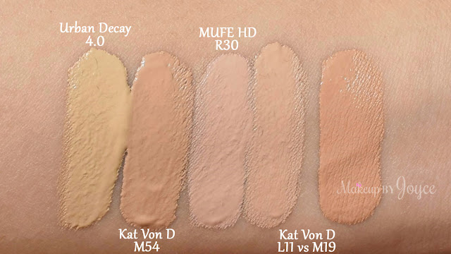 Kat Von D Lock-It Concealer Creme Swatches NC35