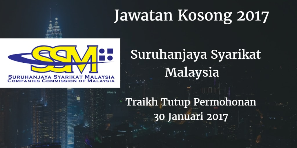 Jawatan Kosong SSM 30 Januari 2017
