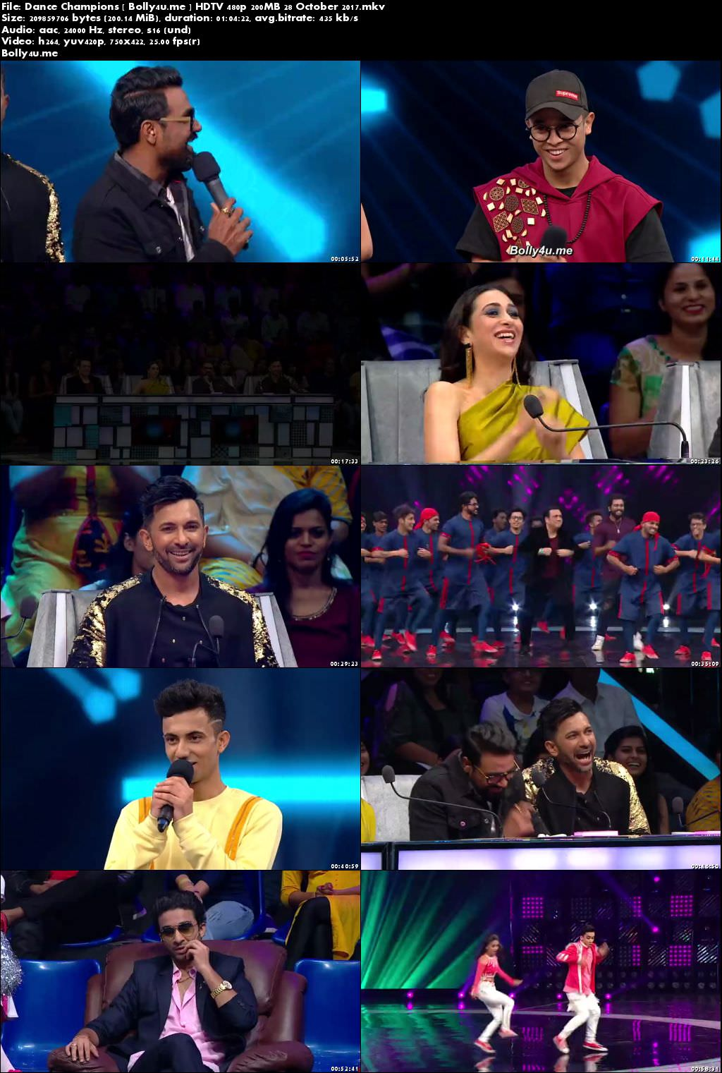 Dance Champions HDTV 480p 200MB 28 October 2017 Download