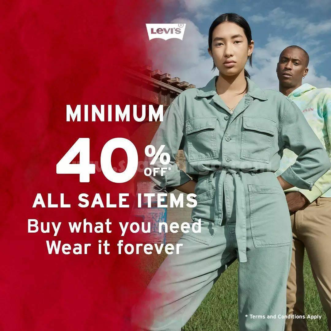 Promo LEVI'S DISKON Minimum 40% Sale Item*