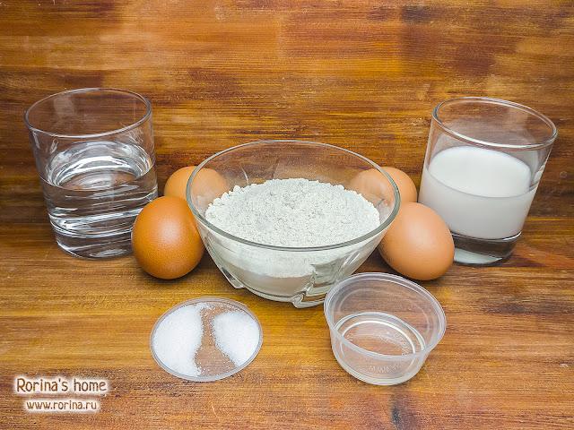 Белковые ПП-блины с молоком