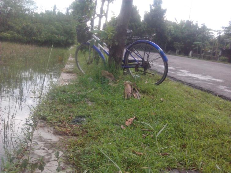 sepeda buat lihat orang mancing ikan