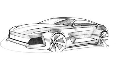 Sketsa gambar mobil keren