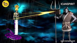 Shiva's Nag Trishul and Damru