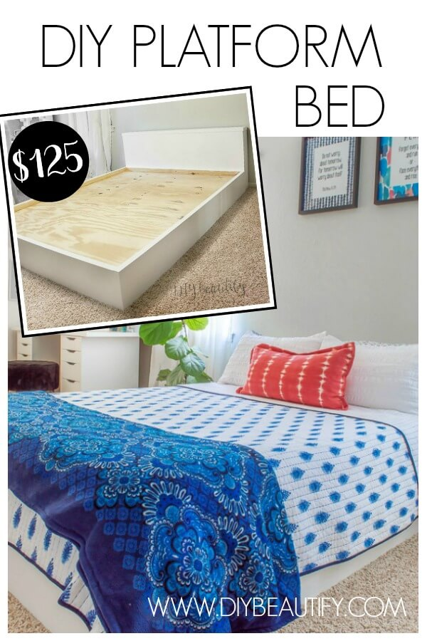 DIY modern platform bed for $125