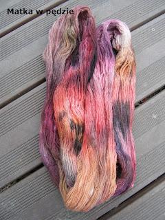 ręcznie farbowana włóczka