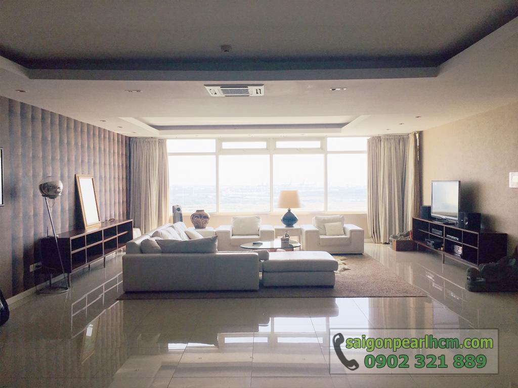 Cho thuê Saigon Pearl căn hộ 4 phòng ngủ 206m2 Ruby 1 view sông Sài Gòn - hình 10