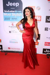 Red Carpet of Most Stylish Awards 2017 ~ Shibani Kashyap (3).JPG