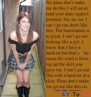 boy becomes sissy girl captions