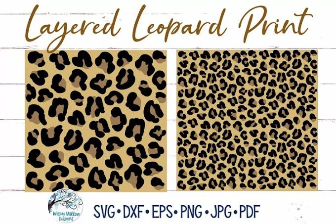 Layered Leopard Print SVGs