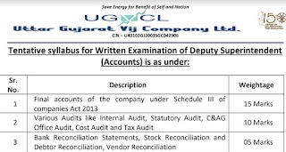 UGVCL Deputy Superintendent (Accounts) Old Question Papers Download