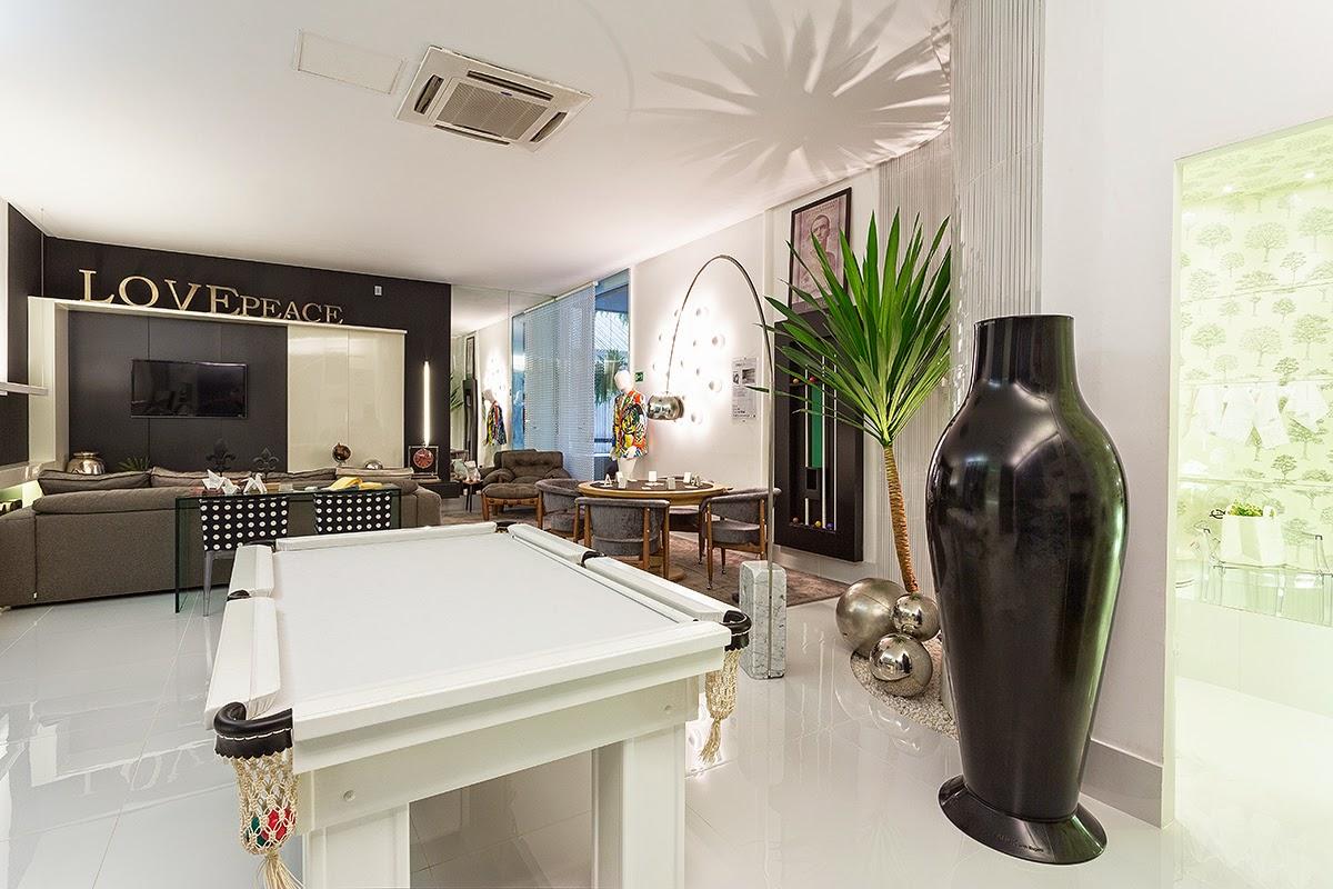 Construindo Minha Casa Clean Decora O De Sala Com Mesa De Sinuca  -> Sala De Tv E Jogos