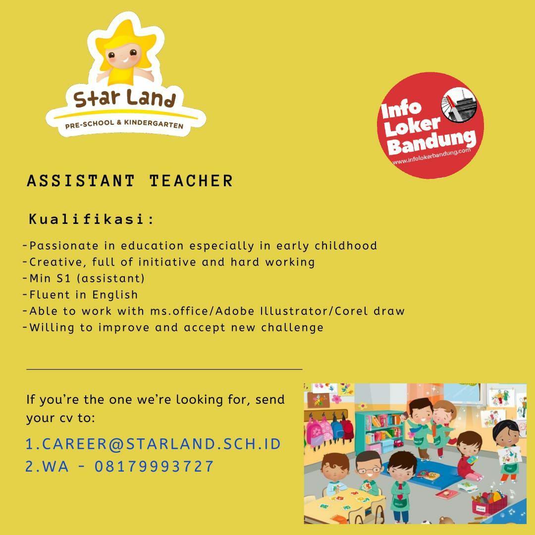 Lowongan Kerja Star Land Pre-School & Kindergarten Bandung Agustus 2019