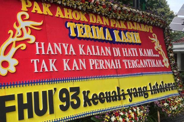 Bermuatan Kalimat Provokatif, Karangan Bunga untuk Ahok Justru Menambah Ketegangan Masyarakat