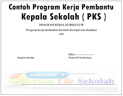 Contoh Program Kerja Pembantu Kepala Sekolah ( PKS )