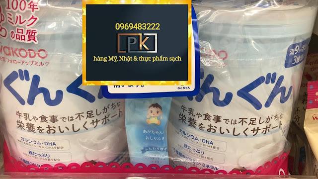 Sữa bột Wakodo, hàng Nhật
