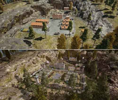 foto before after map erangel 2.0 pubg mobile
