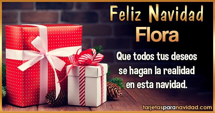 Feliz Navidad Flora