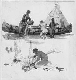 a history of the algonquian tribe of native americans History literature and the arts group of canadian native american tribes that gave their name to the algonquian languages of north america the algonquin people.