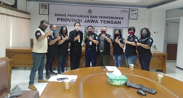 Gerakan Audiensi LSM Garda Nasional Ke Dinas Pertanian dan Perkebunan