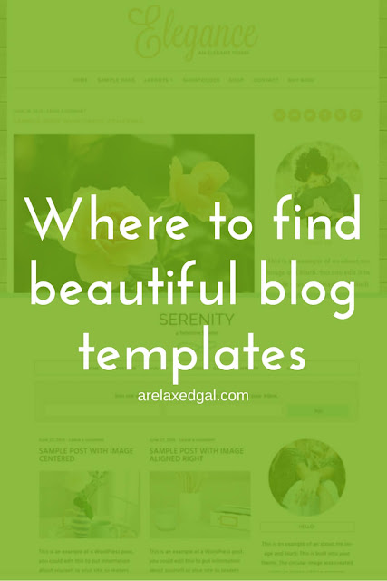 5 sites with beautiful pre-made templates for your blog | @arelaxedgal