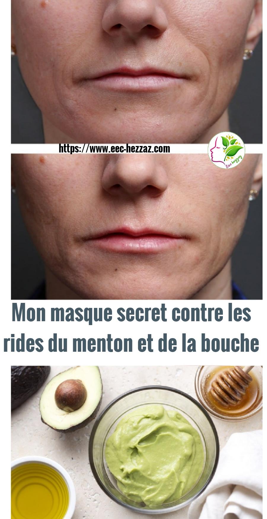 Mon masque secret contre les rides du menton et de la bouche