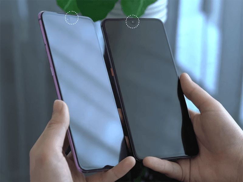 Xiaomi showed a phone with under-display selfie camera too!