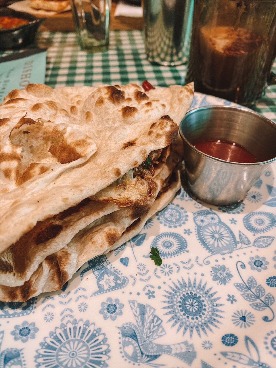 Travel blogger Amanda Martin eats brunch at Dishoom in Edinburgh