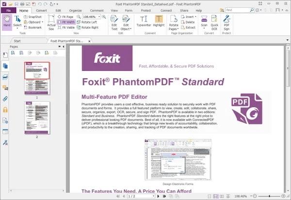 convert pdf to word apps Foxit PhantomPDF