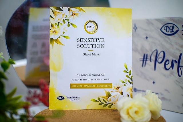 sensitive solution sheet mask dl slim & skin care