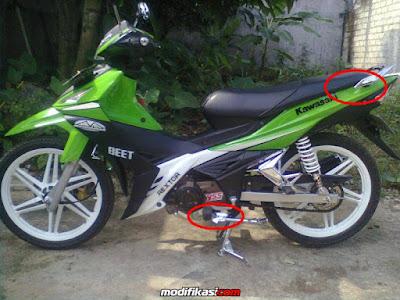 Letak Nomor Rangka dan Nomor Mesin Kawasaki Edge