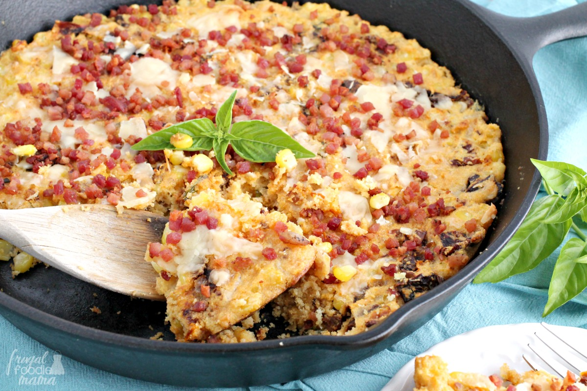 ... cheese, & sun dried tomatoes, this Italian Style Corn Casserole is not