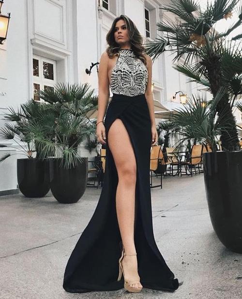 vestido de festa fenda