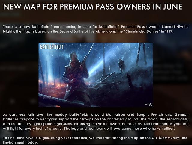 DICE regalará un nuevo mapa a los usuarios premium de Battlefield 1