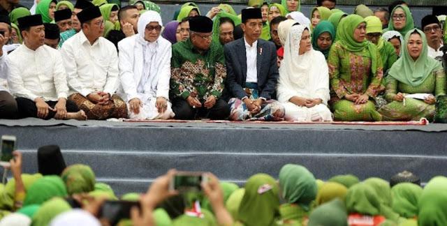 Kiai Said Aqil Sapa Khofifah Capres 2024-2034 di Harlah Ke-73 Muslimat NU
